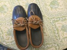 Used L L Bean Women's Rubber Low Moc Bean Boots Size 10 M Worn Once