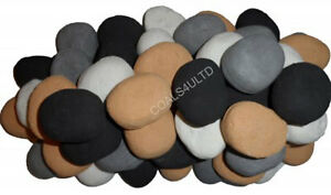 GAS Fire Replacement Pebbles ARTIFICIAL Ceramic Stones Gas Coal Fires UK MADE