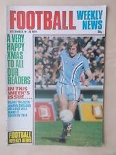 FOOTBALL WEEKLY NEWS MAGAZINE DECEMBER 19th 1979 PORT VALE