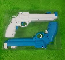 wii REVOLVER GUNS X2 White+Blue Wild West Pistols NEW Light Gun Shooter NO GAME