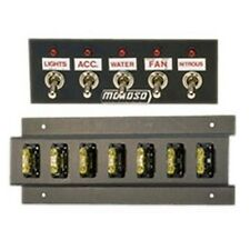 "MOROSO 74133 Switch Panel Aluminum Black 5.5"" Wide 2"" Tall 5 Toggle Switches"