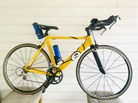 Cervelo Dual Ultegra  Triathlon Time-Trial Aero Frame Carbon Fork Large Frame