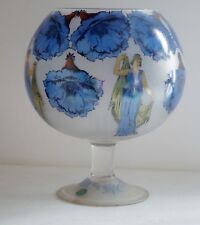ITALY FROSTED GLASS NEOCLASSICAL LARGE GOBLET VASE
