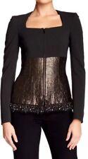 Escada Birkan Women's Beaded Trim Jacket 14381 Size 34