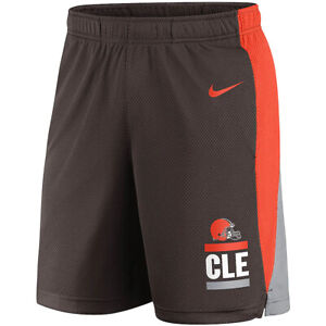 Brand New 2021 NFL Cleveland Browns Nike Broadcast Performance Dri-FIT Shorts