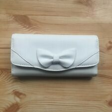 Brand New Purse White Bow Front Womens Ladies Light Wallet Coin