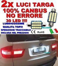 LUCI TARGA BMW X5 E70 CANBUS SILURO NO ERROR LAMPADE 30 LED 6000K C5W BIANCA