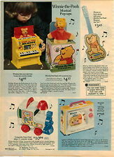 1976 ADVERT Winnie The Pooh Toy Guitar Ge-Tar Musical Jack In The Box Nox