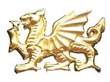 Wales Welsh Dragon Handmade From English Pewter Lapel Pin Badge (WA)