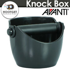 [Black] AVANTI COFFEE KNOCK BOX Bin Espresso Grinds Tamper Waste Tamp Tube