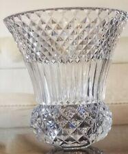 """Vase Vintage cristal Val saint Lambert taillé """"diamant"""""""