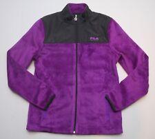 Girls FILA Sport Jacket Purple Velour Size 14 XL