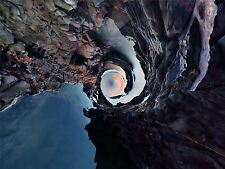 PHOTO PAINTING LITTLE PLANET WORLD ROCKY COAST LARGE ART PRINT LF1028