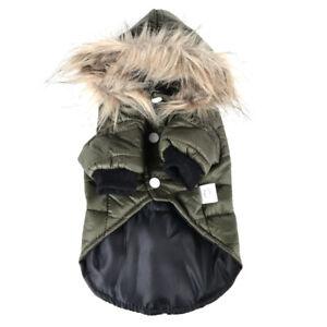 Pet Dog Puppy Winter Padded Jacket Fleece Coat Vest Jacket Apparel Cute Hoodie