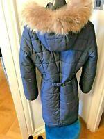 Authentic Max Mara Down Coat Jacket In Navy Size IT 44 UK 12 Pristine Netaporter
