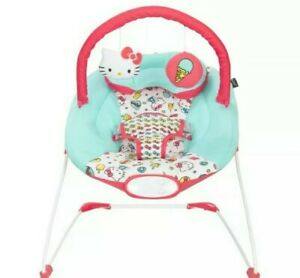 Baby Trend Ez Bouncer Hello Kitty Ice Cream 3-Point Safety Harness Up To 20 lbs