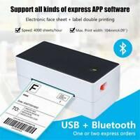 TTLIFE Thermoetikettendrucker USB Thermo Barcode 4 × 6 Versandetikettierung Neu