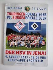 Fußball, DFB- Pokal 2013/14, SV Schott Jena- Hamburger SV, Programm z. Spiel