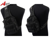 1000D Molle Tactical Utility 3 Ways Shoulder Sling Bag Pack Pouch Backpack Black