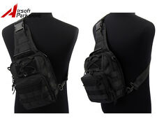 1000D Molle Tactical Utility 3 Ways Shoulder Bag Pouch Backpack - Black