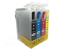 4 Non-OEM 124 T124 Refillable Ink Cartridges For Epson NX125 NX127 NX130 NX230