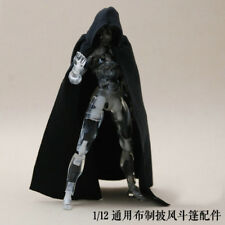 1:12 Scale Black Cape Cloak With Hat For Bandai SHF figma Body Doll  (no figure)