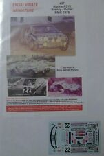 ALPINE A310 JACQUES HENRY RALLYE MONTE CARLO 1976 DECALS EXCLU VIRATE 1/43