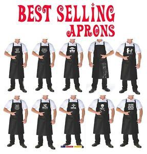 Funny Apron Bbq Kitchen Unisex adjustable size Pocket Ladies Men's Aprons Prints