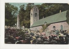 Open Air Service Kirk Braddan 1905 Postcard IOM 640a