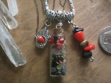 Witch Lucky Spell Passion Courage Power Energy Potion Bottle Pendant Talisman