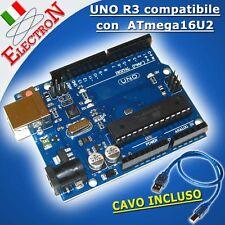 New ARDUINO UNO R3 compatibile 100% + ATmega16U2 USB - ATmega328P + CAVO USB