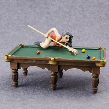 Toy Soldiers Figure Girl Playing Billiard 54mm Female 1/32 Scale Metal