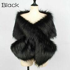 Women Winter Faux Fur Shawl Bolero Stole Warm Soft Wedding Cape Shrug Scarf