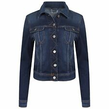 LADIES CUT LABEL LEE DENIM JACKETS SLIM FIT LONG SLEEVES MID BLUE XS-L RRP £95