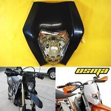 KTM EXC XC MXC 250 450 525 530 Black Dirt Bike Headlight Head Lamp Fairing