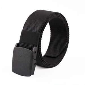 High Quality Gifts for Men Nylon Belt Casual Fast Dry Plastic Automatic Buckle.
