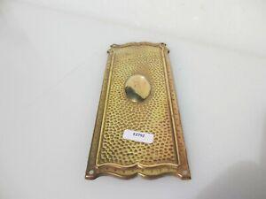 Victorian Brass Finger Plate Push Door Handle Old Antique Vintage Hammered 1900