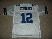ROGER STAUBACH Unsigned Custom Dallas White Sewn New Football Jersey Sizes S-3XL