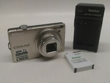 Nikon Coolpix S6000 14.1MP Digital Camera 7x Zoom w/ Battery - Tested 720p HD