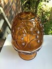 """Vintage Fenton Opalescent Carnival Art Glass """"Lily of the Valley"""" Fairy Lamp 7"""""""