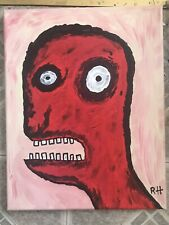 Zombie Painting In Acrylic Paint Done On Canvas