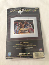 """DIMENSIONS The Gold Collection Petites *HOLY NIGHT"""" Christmas Cross Stitch Kit"""
