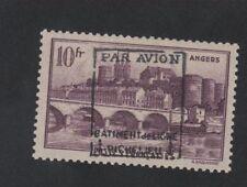 Poste aérienne militaire bâtiment Richelieu N°10 Angers gomme sans charnière