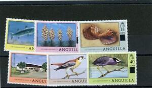 Anguilla 1979 Fish Birds  Scott# 337-42 Mint NH