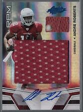 2010 Absolute Andre Roberts Auto Jumbo RPM Jersey and Football Swatch Rc # /10