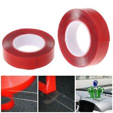 2M Red Double Sided Adhesive Tape High Strength Acrylic Gel Transparent Car Fix