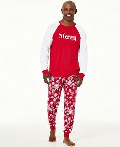 Matching Family PJs Men's Merry Snowflakes Christmas Pajama Set - 2XL #5975