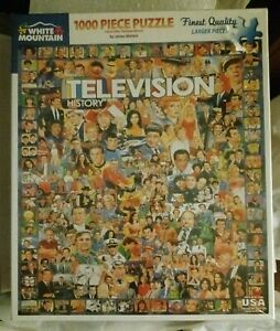 White Mountain 1000 Piece Jigsaw Puzzle Television History James Mellett New