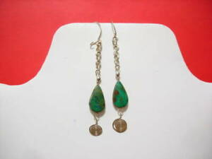 Stone Peruvian Handmade Earrings with Semi-precious stone # 007