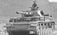 B&W WW2 Photo WWII German Pzkpfw. IV Commander Panzer World War Two Wehrmacht
